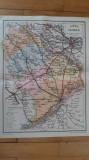 JUDETUL VLASCA - HARTA VECHE - ANII 1930 - DUPA NOUA IMPARTIRE ADMINISTRATIVA