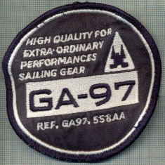263 -EMBLEMA -INTRECERE DE YACHTING - GA-97 -(GAASTRA CUP) -starea care se vede