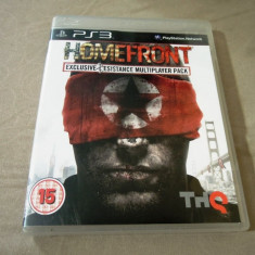 Joc Homefront, PS3, original, alte sute de jocuri! - Jocuri PS3 Thq, Shooting, 18+, Single player
