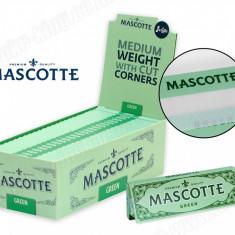 Foite MASCOTTE green pentru rulat tutun sau tigari - Foite tigari