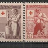 FINLANDA 1946 – CRUCEA ROSIE, MESERII, serie nestampilata D319