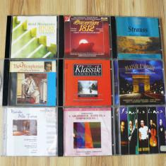10 CD audio originale cu muzica clasica