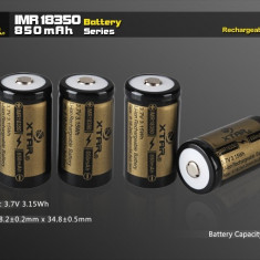 XTAR IMR 18350 850mAh 3.7V Li-Ion - acumulator - Baterie Aparat foto