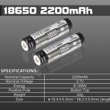 Acumulator 18650 XTAR 2200 mAh 3.7V Cu Protectie - Baterie Aparat foto