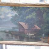 Ulei pe panza groasa semnat Marselek, Peisaje, Realism