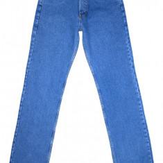 (Made in U.S.A.) BLUGI LEVI'S 501 Big E - (MARIME: W 32 / L 36) - Talie = 80 CM - Blugi barbati Levi's, Culoare: Albastru, Lungi, Prespalat, Drepti, Normal