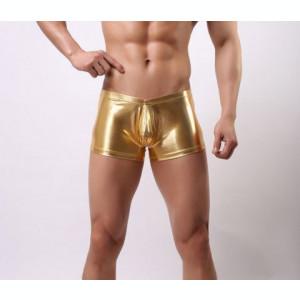 LLL Chiloti Boxeri Chilot Underwear Barbati Piele PU Metalic Sexy Jockstrap