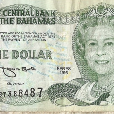 BAHAMAS 1 dollar 1996 VF - bancnota america