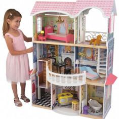 Castel casuta Magnolia KidKraft Casa din lemn de joaca pentru papusi si fetite, Roz