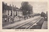 GARA DARSTE   SALUTARI DIN GARA DARSTE (SACELE) TREN  CIRCULATA AUG.1927