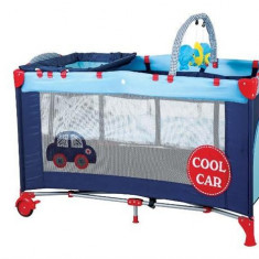 Babygo – Bgo4401 – Patut Pliant Cu 2 Nivele Sleepwell Car - Patut pliant bebelusi BabyGo, Albastru