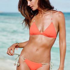 Costum de baie Victoria's Secret marime XS victoria victorias, Culoare: Piersica, Doua piese, Bikini