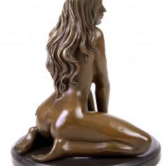 NUD-STATUETA BRONZ PE SOCLU MARMURA - Sculptura, Nuduri
