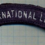 291 -EMBLEMA SPORTIVA INTERNATIONAL LEAGUE -starea care se vede