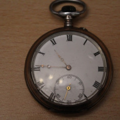 CEAS VECHI DE BUZUNAR -SWISS MADE-REMONTOIR CYLINDRE 10 RUBINE-D=4, 8CM - Ceas de buzunar vechi