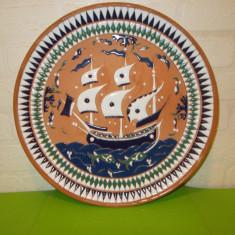 FARFURIE DECORATIVA CERAMICA cu tema marina LUCRATA MANUAL, RHODOS, Grecia - Arta Ceramica