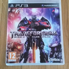 JOC PS3 TRANSFORMERS RISE OF THE DARK SPARK ORIGINAL / by WADDER - Jocuri PS3 Activision, Actiune, 12+, Single player