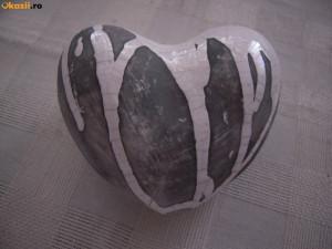 Inima ceramica decorativa mica 9x10 cm