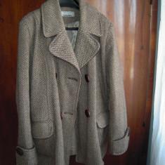 Paltonas din lina masura 50, stare buna - Palton dama, Marime: 48/50, Culoare: Maro, Lana