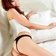 Bikini Mini G-string Chilotei Sexy Transparenti Dantela Chiloti Open Back Crotch - Chiloti dama, Culoare: Albastru, Bej, Mov, Negru, Rosu, Roz, Marime: One size