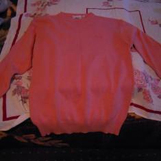 Pulover de dama roz, marimea M (46), bumbac 100% - Pulover dama