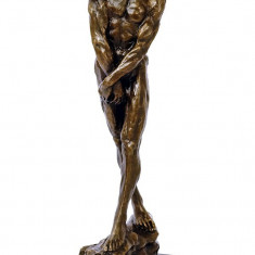 NUD-STATUETA BRONZ PE SOCLU MARMURA - Sculptura, Animale