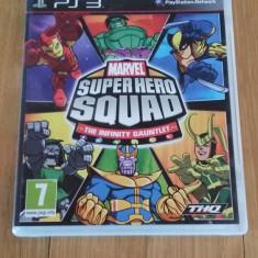 JOC PS3 MARVEL SUPER HERO SQUAD THE INFINITY GAUNTLET ORIGINAL / by WADDER, Actiune, 12+, Multiplayer, Thq