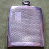 Sticla din metal pewter pentru bautura/ tarie/ whisky Sheffield England 3oz - Metal/Fonta