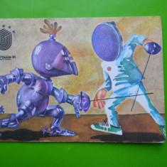 HOPCT 17549 ROMANIA UNIVERSIADA 1981 BUCURESTI / SCRIMA [NECIRCULATA] - Carte Postala Muntenia dupa 1918, Printata