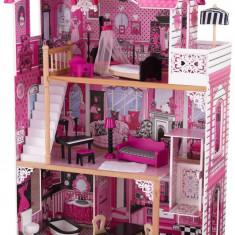 Casuta Amelia KidKraft Casa din lemn de joaca pentru papusi si fetite, Roz