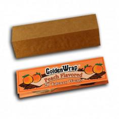 Foite Golden wrap PIERSICA pentru rulat tutun / tigari - Foite tigari