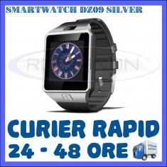 CEAS Smartwatch 4P-Touch DZ09 ARGINTIU - FUNCTIE GSM TELEFON, TOUCHSCREEN - GARANTIE 1 AN, Alte materiale, Tizen Wear