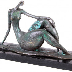 NUD MODERN-STATUETA BRONZ PE UN SOCLU DIN MARMURA - sculptura reproducere
