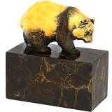 URS-STATUETA DIN BRONZ PE UN SOCLU DIN MARMURA - Sculptura, Animale