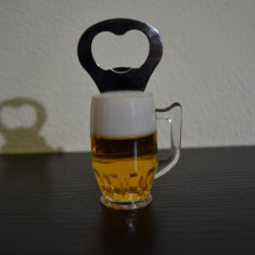 Desfacator de bere in forma de halba cu magnet #214
