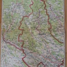 HARTA VECHE - PITESTI TARGOVISTE - CAMPULUNG - ANUL 1946