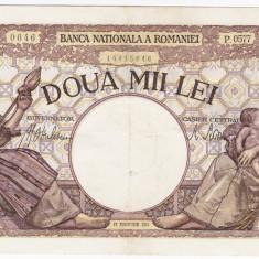 5)Bancnota 2000 lei 18 noiembrie 1941, filigran Traian, XF - Bancnota romaneasca