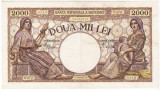 3)Bancnota 2000 lei 18 noiembrie 1941,filigran Traian,XF