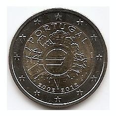 Portugalia 2 Euro 2012 - ( 10 ani de monede si bancnote Euro) KM-812 UNC !!!, Europa
