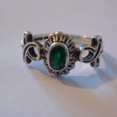 Inel argint smarald - 658