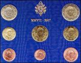 2007 Vatican Euro Set oficial BENEDICT XVI FDC, Europa, Cupru-Nichel