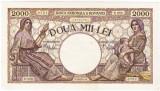 1)Bancnota 2000 lei 18 noiembrie 1941 filigran Traian a.UNC