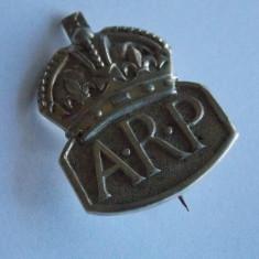 Insigna argint Anglia air raid precautions - 467