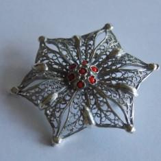 Brosa argint floare in filigran -119