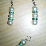 Set cercei si pandantiv - handmade - Set bijuterii handmade si fashion