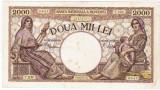 4)Bancnota 2000 lei 18 noiembrie 1941,filigran Traian,VF