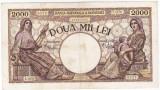 4) Bancnota 2000 lei 18 noiembrie 1941,filigran Traian,VF