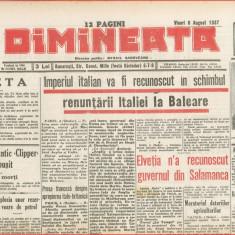 Ziare Dimineata 2 numere 6 si 13 august 1937