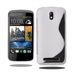 Husa HTC Desire 500 TPU S-LINE Transparenta - Husa Telefon HTC, Gel TPU, Fara snur, Carcasa