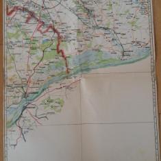 HARTA VECHE - BUCURESTI - GIURGIU - ANUL 1946
